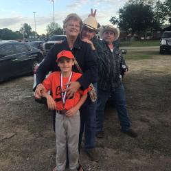 Logan and his Great Grandparents and his Papa(my Grandparents)